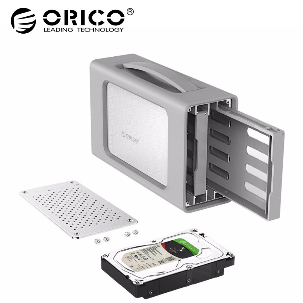 ORICO 3.5 inch Type-C Dual-bay Hard Drive Enclosure With Raid Docking Station USB3.1 Silicone Cover 20TB Aluminum Honeycomb orico 9528ru3 dual bay 3 5 usb3 0 sata hard drive enclosure with raid