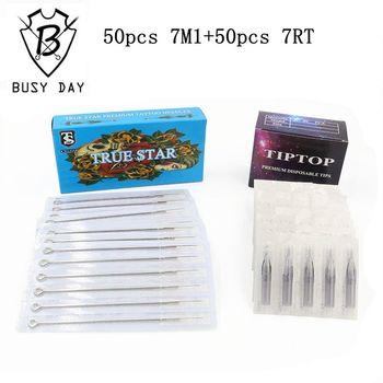 (7M1+7RT) 50pcs True star tattoo needles & 50pcs TIP TOP tattoo tips for tattoo supplier free shipping фото