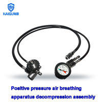 HG Positive pressure air breathing apparatus pressure reducer High pressure gas cylinder pressure gauge alarm whistle
