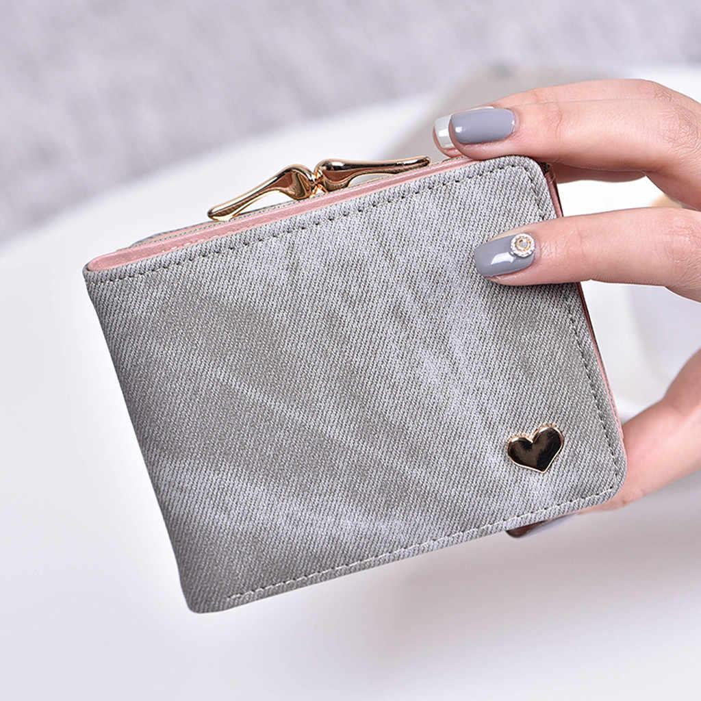 Женский кошелек модный короткий стиль Студенческая карта многофункциональный складной кошелек бумажник feminina женские кошельки и сумки 2019