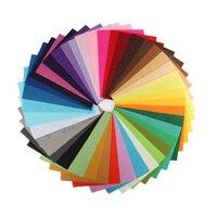40 Pcs Set Fabric DIY Felt Fabric Polyester Colorful Non Woven Felt Handmade Floor Cloth 30