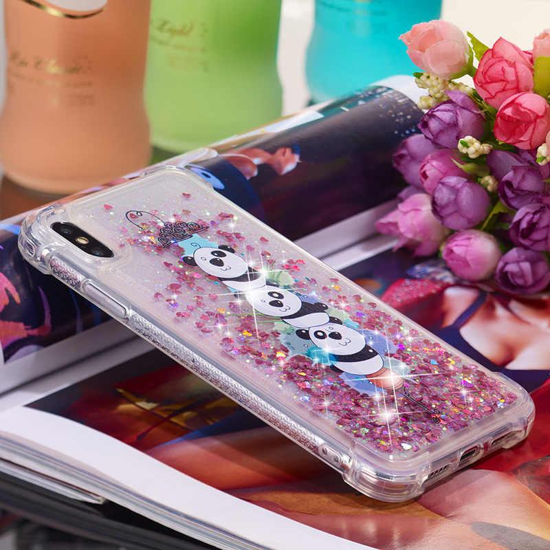 Жидкий чехол для LG K4 K8 K10 2017 2018 ЕС США V40 V30 V20 G7 stylo 4 3 Motorola Motoe E4 G5S с рисунком панды Мягкий силиконовый чехол