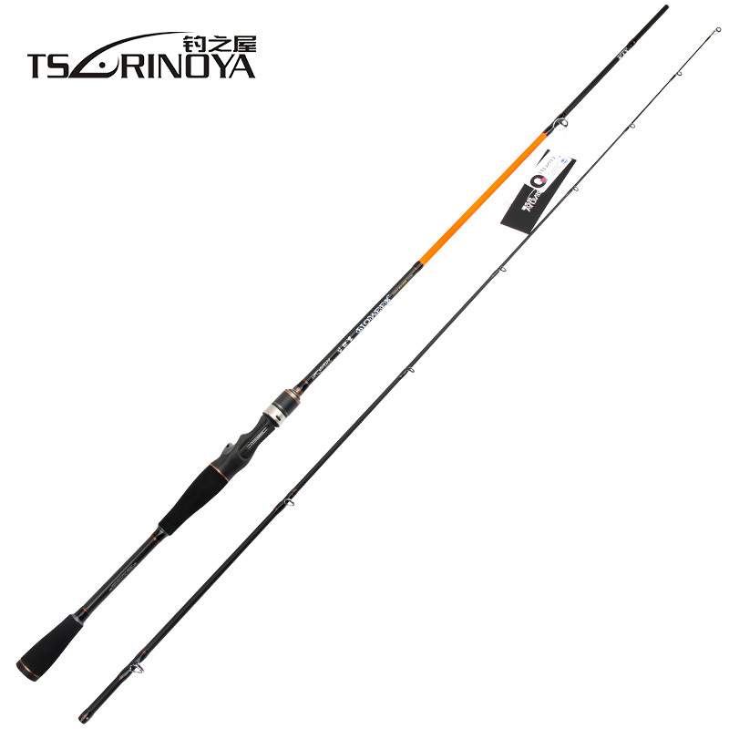TSURINOYA PIONEER 2.1m M/ML Power 2 Sections Spinning/Casting Fishing Rod Carbon Lure Rod FUJI Guide Ring Vara De Pesca tsurinoya 2 01m 2 13m proflex ii spinning fishing rod 2 section ml m power lure rod vara de pesca saltwater fishing tackle