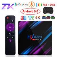 Android 9.0 TV Box H96 Max Rockchip RK3318 4K Smart TV Box 2.4G&5G Wifi BT4.0 H96Max 4GB 64GB Media Player Android Set Top Box