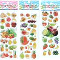 Hamtoys Stickers Toys 3pcs/lot Baby Girls and Boys Cartoon Fruit Stickers Best Gift for Children Kids Educational Toys #ST004