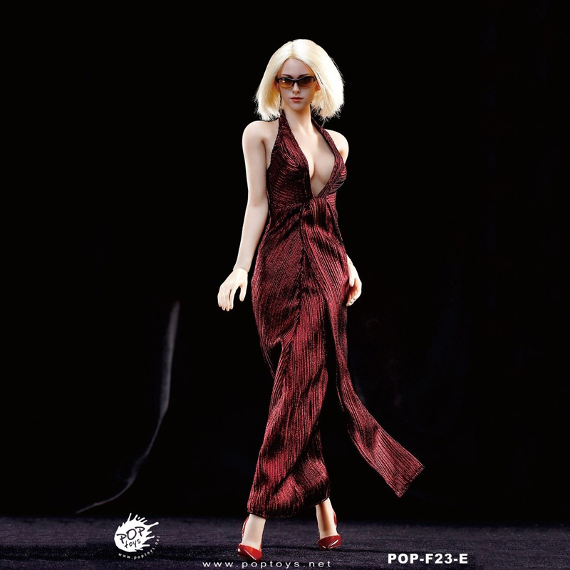 "ФОТО Hot Toys 1/6 Female Clothing Model Toys Accessory Female Red Marilyn Monroe Dress Suit Set For 12""   Female Action Figure Access"