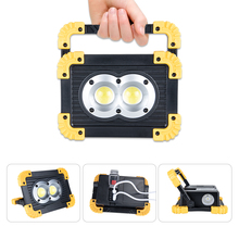 DC5V USB Rechargeable Portable Light Spotlight Emergency 18650 COB Lampe Led Work Light Lamp Square Projector Security Tent Lamp