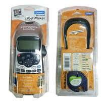 Dymo LetraTag LT-100H Handheld Label Maker Kompatibel für 12mm Letra Tag 91201 91200 12267 91202 Label Bänder 9 V 2A Adapter