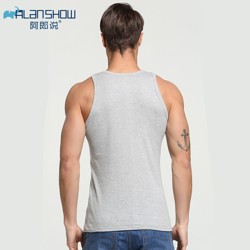 Image 3 - Cotton Sleeveless Undershirt Gym Tank Top Men Fitness Shirts Mens Bodybuilding Workout Vest Factory Outlet-in Tank Tops from Men's Clothing