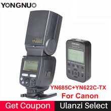 YONGNUO TTL Flash Speedlite YN685+YN622C-TX / YN622N-TX Flash Trigger 2.4G HSS 1/8000s Radio Slave Mode for Canon Nikon