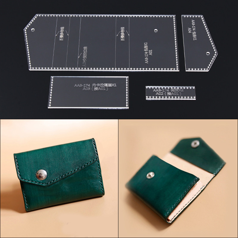 donyamy 1 set diy hasp buckle card holder template clear