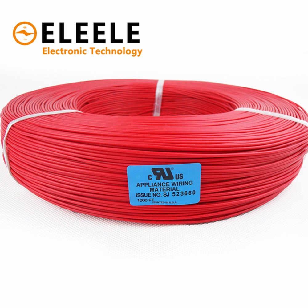 10 Meters <font><b>UL1007</b></font> Wire 24awg 1.4mm PVC Electronic Cable UL Certification PN35 image