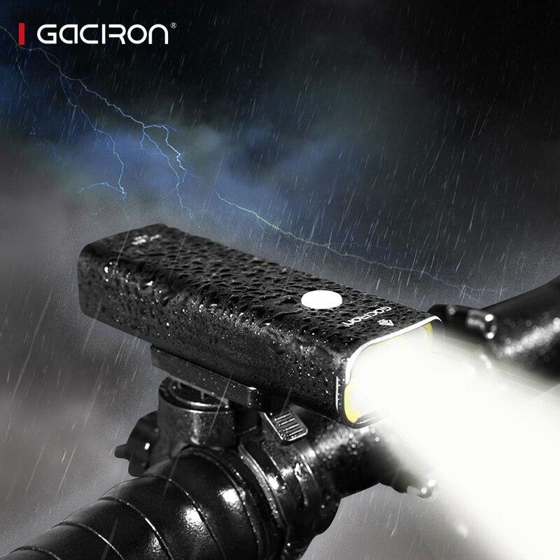 Gaciron professionnel vélo head light 800 lumens intégré 18650 2500 mAh rechargeable batterry IPX6 étanche accessoires vélo - 2