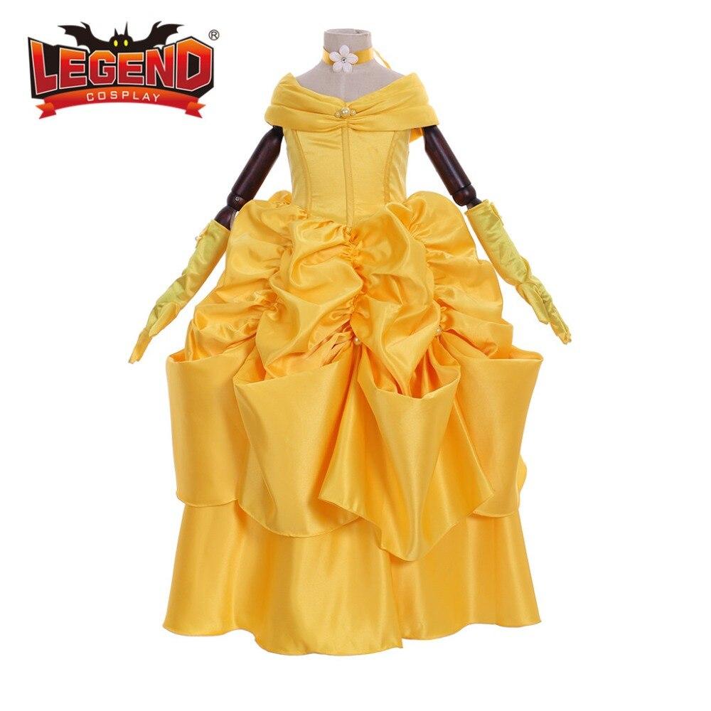 Enfants filles belle robe la Belle et la bête princesse belle robe robe de bal costume cosplay
