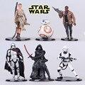 6 шт./лот 6-11 см Звездные войны The Force Пробудить BB-8 BB8 Робот фигурку набор детей игрушки для мальчик Украшения Аксессуары Подарок