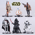 6pcs/lot 6-11cm Star Wars The Force Awaken BB-8 BB8 Robot action figure set kids toys for boy Decoration Accessories Gift