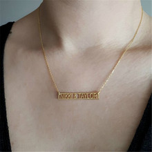 Collier femme 2019 custom Roman numerals gold necklace vintage date jewelry anniversary gift birthday