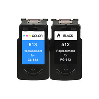 2 Pack PG 512 Ink Cartridge PG 512 CL513 CL 513 for Canon Pixma iP2700 iP2702 MP240 MP250 MP252 printer cartridges