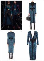High Quality Fashion Women Coat Long Sleeve Knitted Jacquard Bandage Jacket