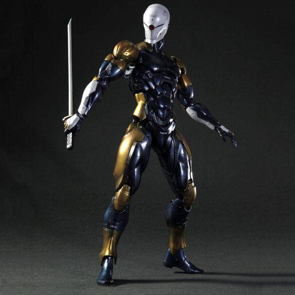 Play Arts Metal Gear Solid Gray Fox Action Figure Model Toys 24cm play arts kai metal gear solid cyborg ninja gray fox game pvc action figure resin collection model toy gifts