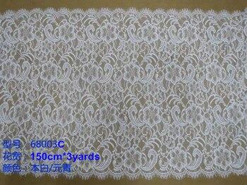 150cm*3yard/pcs luxurious flora motif jacquard eyelash lace, soft and elegant lace trim,XERY-68003C