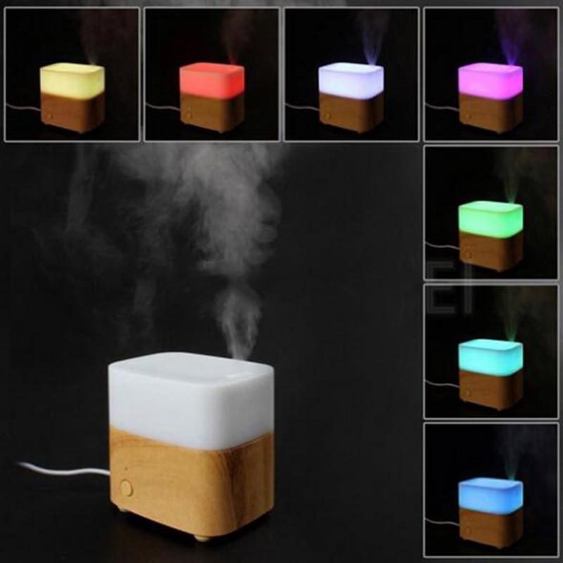 ФОТО 2017 Newest ! Colorful Wood Grain Ultrasonic Air Humidifier Aroma Diffuser Aromatherapy Office Purifier Mist Maker