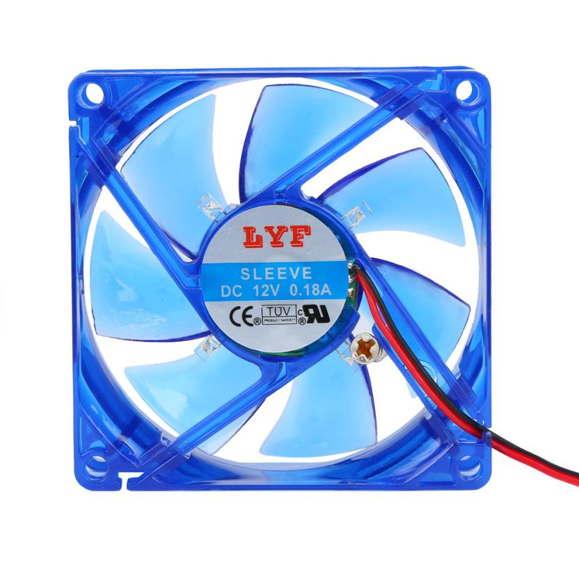Carprie New 80mm DC 12V Dual 4Pin 80x80x15mm LYF Computer Cooler Cooling Fan Sleeve Bearing 17Jul31 Dropshipping new original sanyo 9gl0812p1k05 12v 1 8a 80 80 38mm 8cm computer server cooling fan