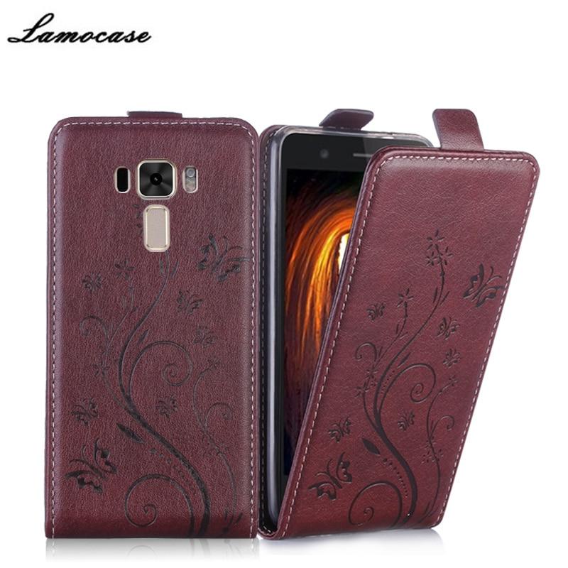 bilder für Für asus zenfone 3 laser zc551kl case flip luxus leder abdeckung für asus zc551kl telefon taschen schützende lamocase