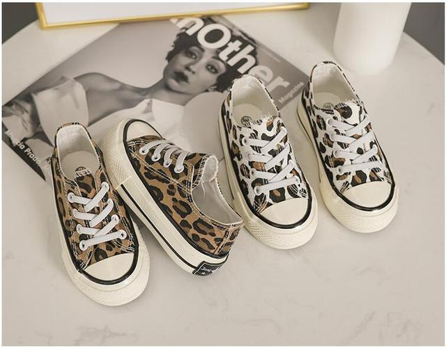 Leopard Print Canvas Sneakers