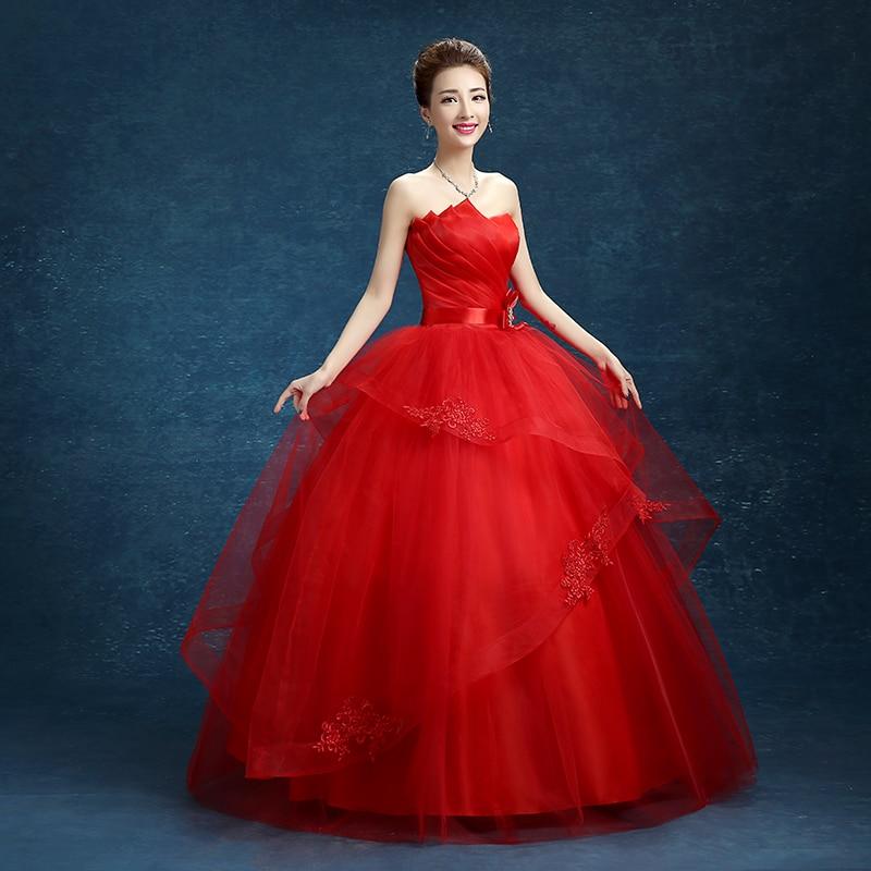 T 2016 Stock New Bridal Gown Wedding Dress Bandage