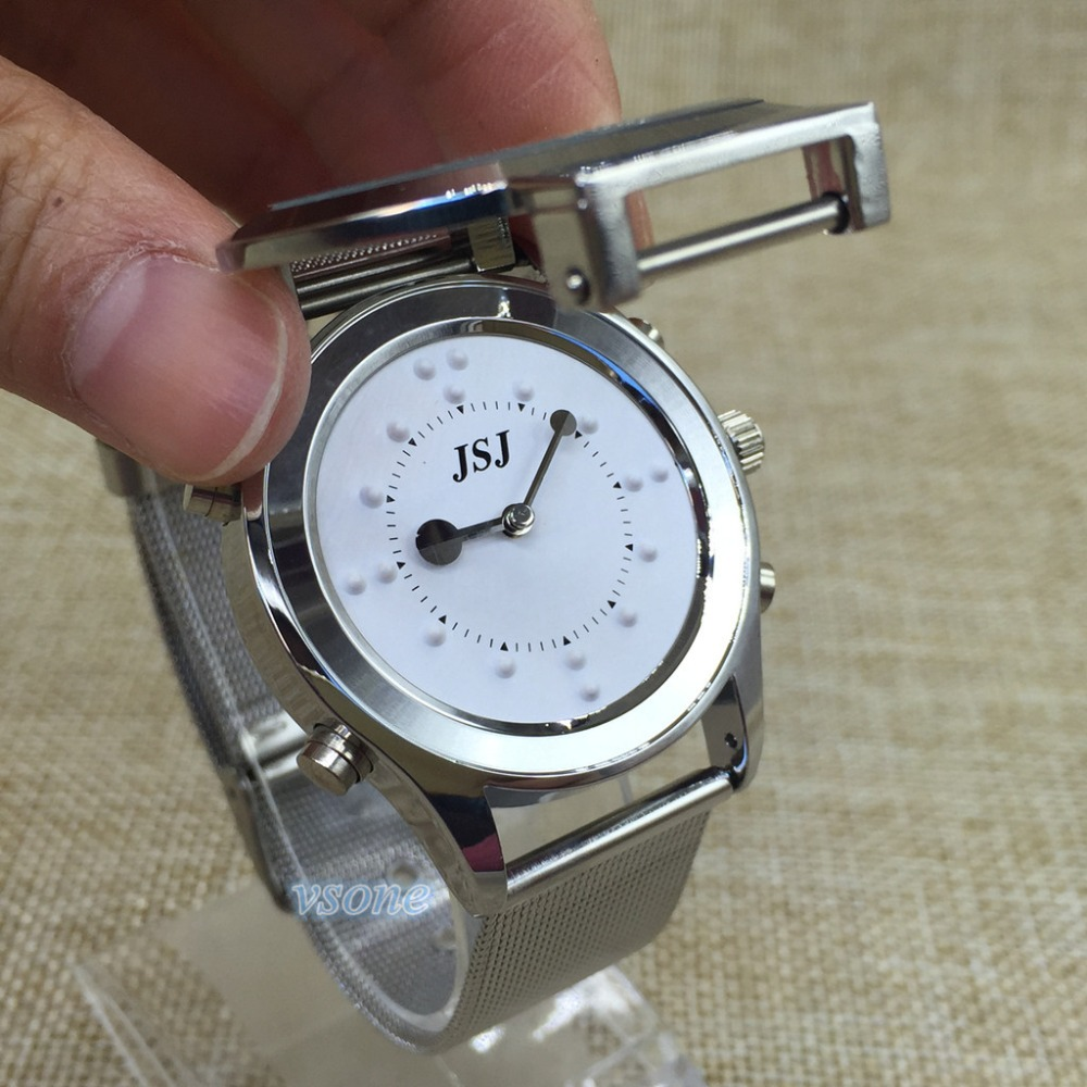 Cool Italian Talking And Tactile Function 2 in 1 Watch For Blind People Or Visually Impaired Or Old People все цены