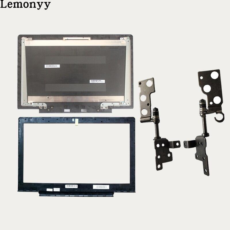Nuevo caso de la cubierta para Lenovo Ideapad 700-15 700-15isk Laptop LCD contraportada negro/LCD bisel cubierta/ LCD bisagras izquierda y derecha conjunto