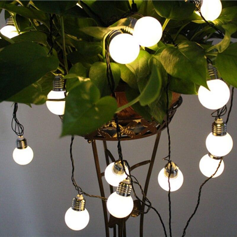 Outdoor Hanging String Lights Led: Solar Powered Globe Bulbs Led String Lights For Outdoor