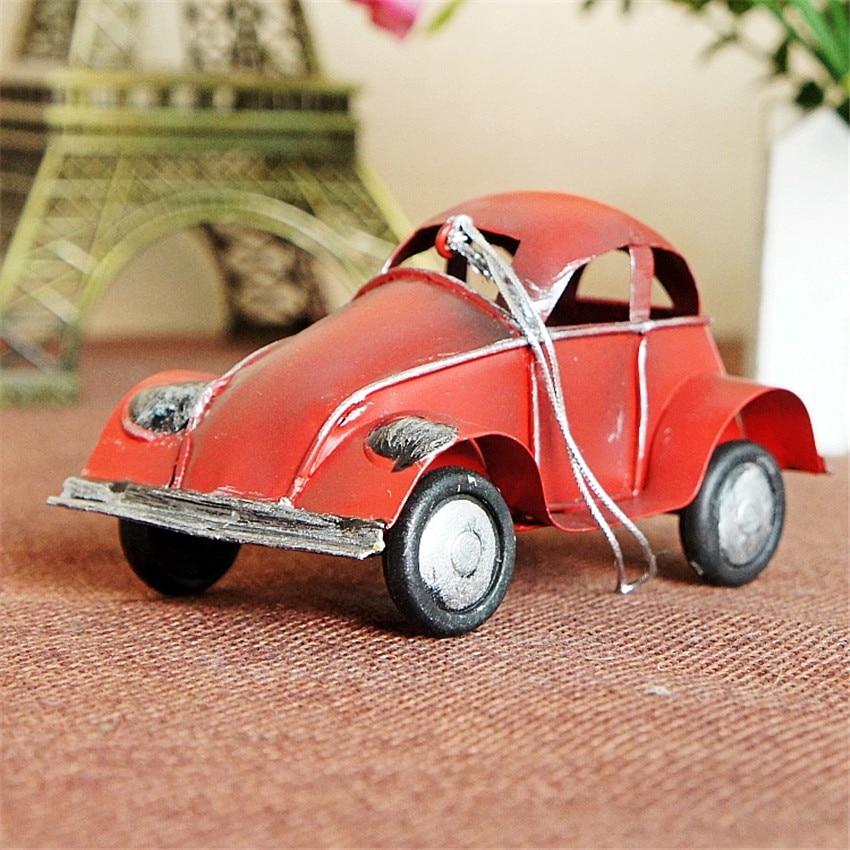 Ücretsiz kargo (3 adet / grup) Renkli mini retro araba modeli Eski - Ev Dekoru - Fotoğraf 5