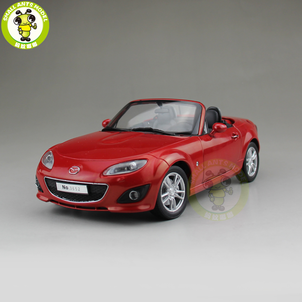 1/18 Mazda MX 5 MX 5 Roadster Diecast Metal Car Model Toy Boy Girl Gift Collection Red
