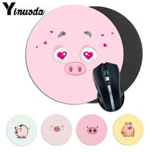 Yinuoda funny cute lovely pig Soft Rubber Professional Gamer Mouse Pad anime laptope