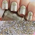1 Saco 1.5mm Ouro Stud Pedrinhas Acrílico UV Gel Nail Art Decorações Para DIY