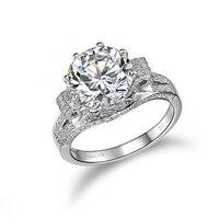 18 к позолоченные натуральная 3 карат SONA Lab бриллиантовое кольцо с цветами группа для женщин aneis de diamante Свадебные обручальные кольца (BB)