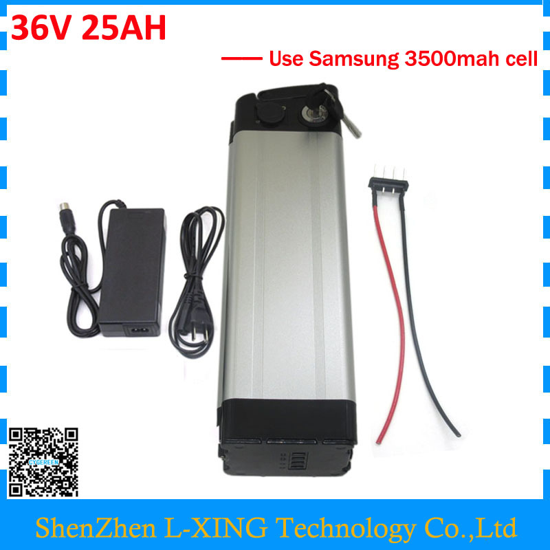 scooter battery 36V 25AH 1000W 36v Lithium battery 25AH 24.5AH Silver fish use samsung 3500mah cell 30A BMS Free customs duty free customs duty 1000w 48v battery pack 48v 24ah lithium battery 48v ebike battery with 30a bms use samsung 3000mah cell