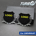 2 Unids/set Car Styling 3D Metal Badge Sticker para Trax Chevrolet Spark Sail Malibu Epica Cruze Aveo Volt Camaro Captiva