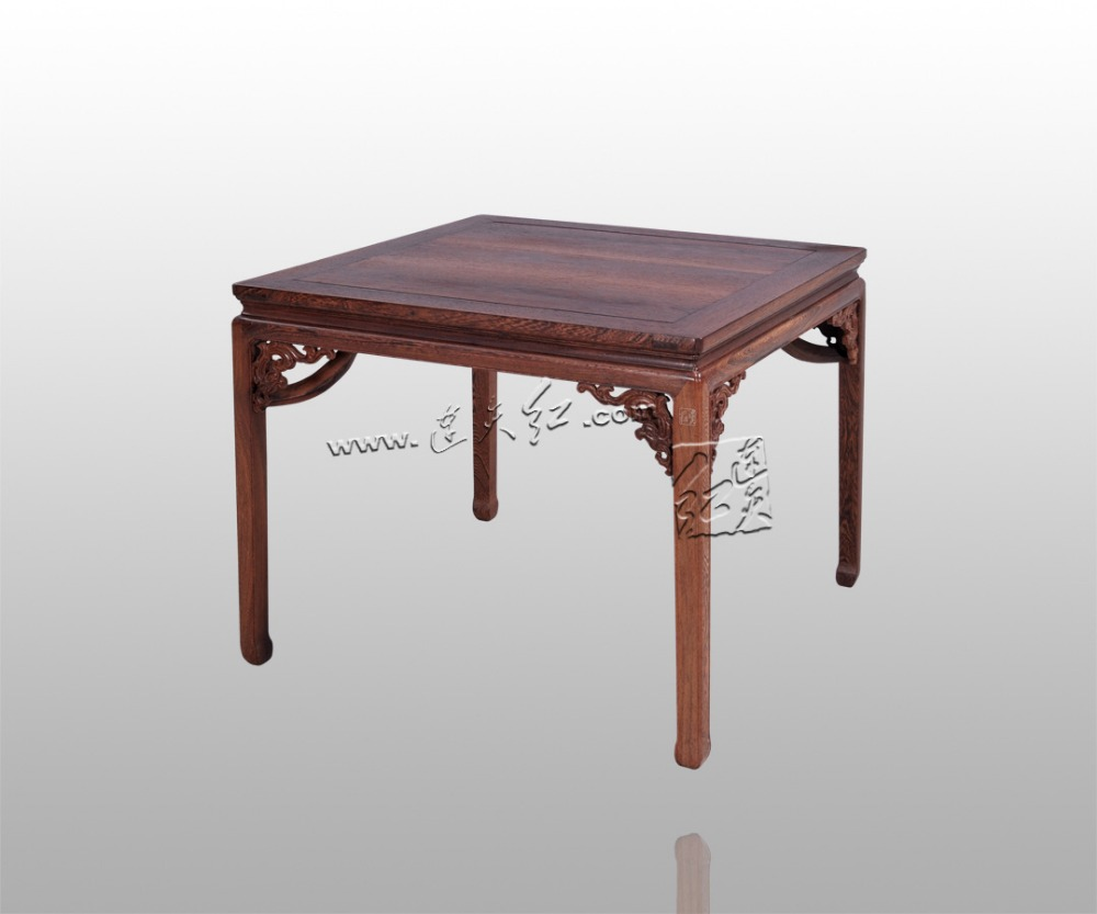 86 Square Tables Burma Rosewood Solid Wood home Furniture Living Dining Room Mahogany Desk with Carving Chinese New Classical