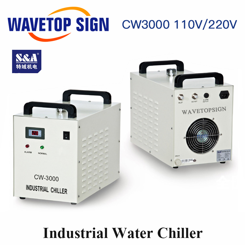 S&A CW3000 Industrial Water Chiller For CO2 Laser Engraving Cutting Machine Cooling 60W 80W Laser Tube DG110V AG220V
