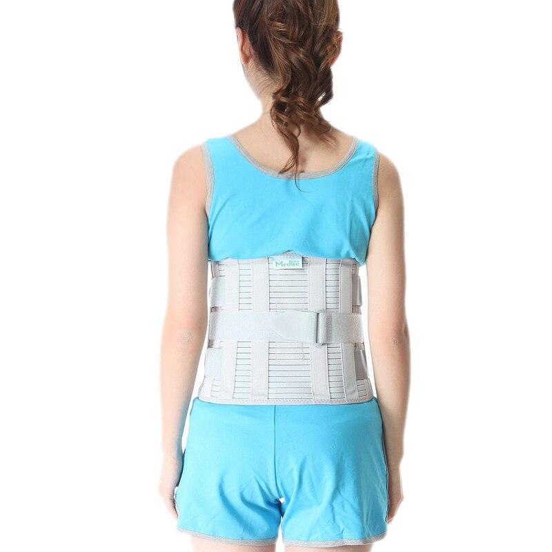 Cinturón de protección de hernia de disco Lumbar con cinturón deportivo de cintura ajustable de acero S/M/L/XL /XXL-in Abrazaderas y soportes from Belleza y salud    1