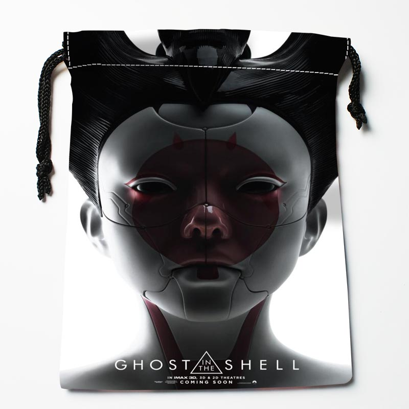 Custom Ghost In The Shell  Drawstring Bags Custom Storage Bags Storage Printed Gift Bags More Size 27x35cm Compression Type Bags