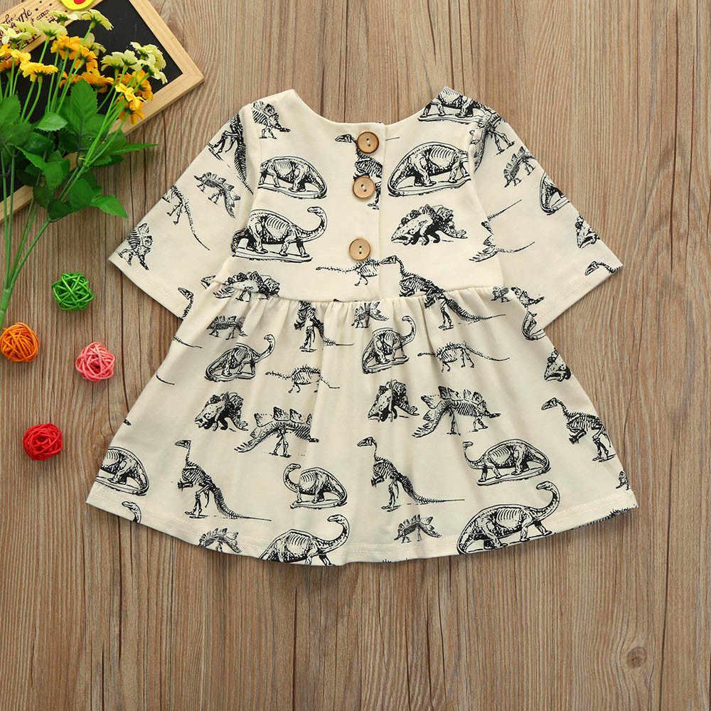 d623a366f6e35 ISHOWTIENDA Toddler Infant Baby Girls Cartoon Dinosaur Print Sun Dresses  Clothes Outfits Casual Comfortable roupa menina @2