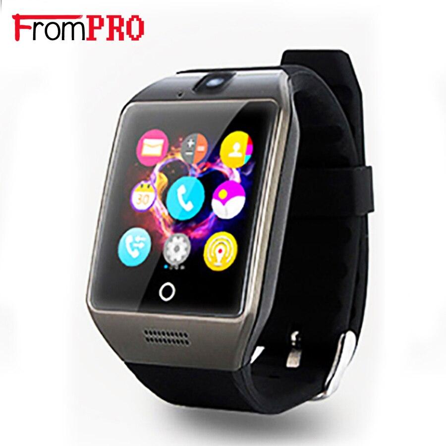 Frompro original bluetooth smart watch q18s arco soporte sim smartwatch tf para