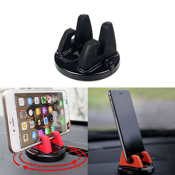 Car Phone Holder Stands Rotating Adhesive Support For Ford Focus 2 3 Fiesta Mondeo Kuga Citroen C4 C5 Skoda Octavia Rapid Superb image