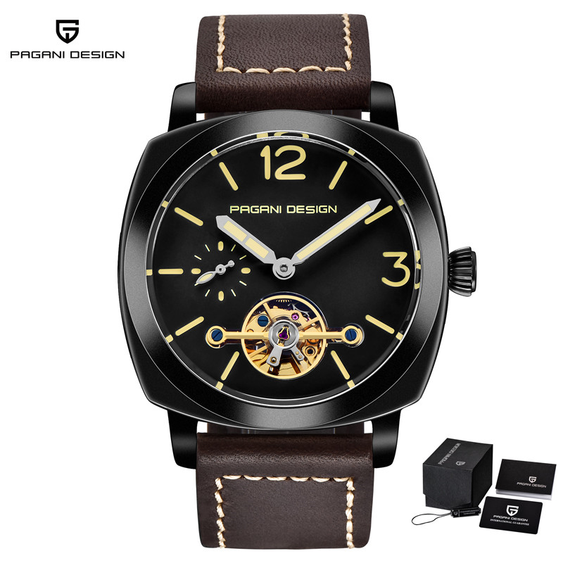 цена на PAGANI DESIGN Fashion Mechanical Watches For Men Waterproof Leather Strap Automatic Watch Luminous Hands Clock horloges mannen