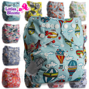 [Littles&Bloomz] Baby Washable Reusable Cloth Pocket Nappy Diaper, Select A1/B1/C1 from Photo, Nappy/Diapers Only (No insert)(China)