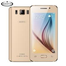 D'origine SERVO OK24 Téléphone 4.5 pouce téléphone dual sim MTK6572 Dual Core Android 4.4.2 2.0MP WCDMA Google Jouer avec Russe langue